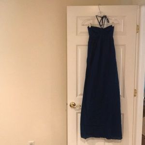 Hard Tail long dress blue. Size small